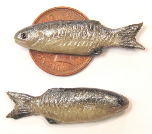 1:12 SCALA SINGOLA FIMO Pesce per Casa delle Bambole Cucina Negozio Accessori G