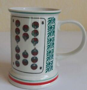Porzellan - Krug - Becher– Motiv Skatblatt Nr. 8 - 11,5 cm hoch