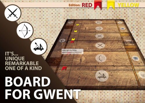 GWENT GAME BOARD THE WITCHER 3 WILD HUND GAMEBOARD CLOTH PLAYING SURFACE MAT PVC