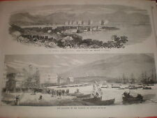 Views of Ajaccio Corsica France 1869 prints