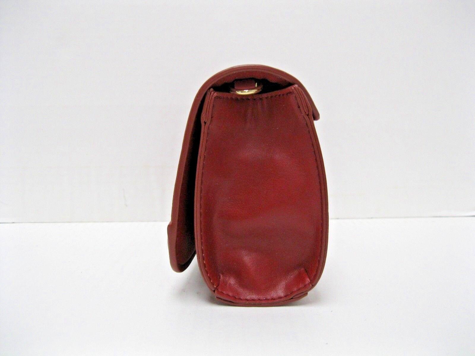 INC Womens Korra Red Faux Leather Grommet Clutch Handbag Purse Small BHFO 6820