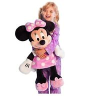 """Disney Authentic Patch Pink Polka Dot Minnie Mouse BIG Jumbo Plush 27"""" Toy Doll"""