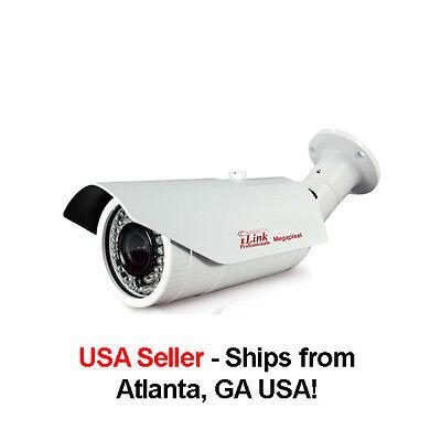 5//3//2//MP 1080P /& 720P IP Megapixel IR Bullet w// PoE /& 2.8-12mm varifocal lens