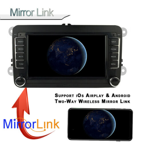 "7/"" 2 Din GPS Android Radio de Coche CarPlay para VW//Seat Airplay Fm Bt Touch Wifi Siri"