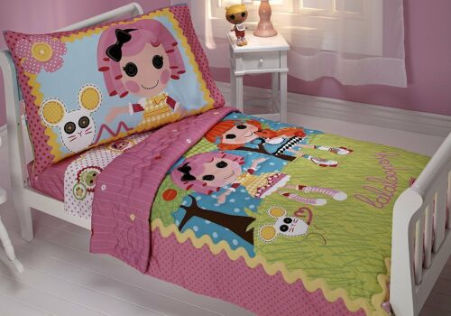 Lalaloopsy Sew Magic Sew Cute 4pc Toddler or Crib Bedding Comforter Bed Set