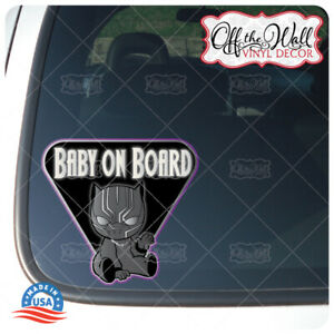 Baby-Black-Panther-034-BABY-ON-BOARD-034-Sign-Vinyl-Decal-Sticker-for-Cars-Trucks