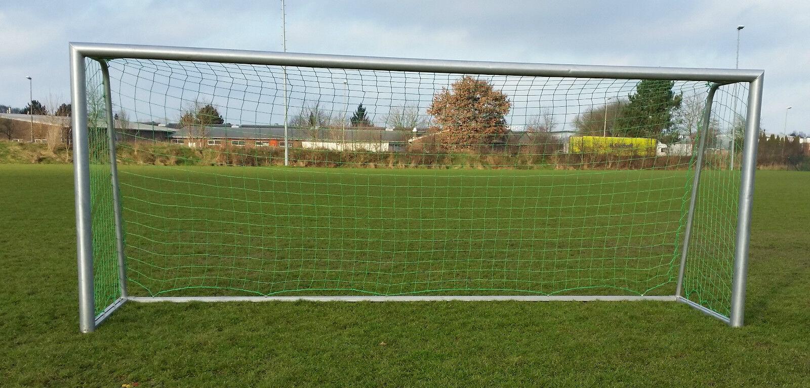 Fußball Tornetz 7,32x2,44m oben 80 unten 150 Stärke 3mm 3mm 3mm grün d1021a