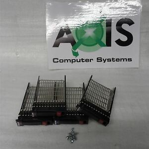 Lot-of-4-Genuino-HP-SERVIDOR-PROLIANT-HDD-Caddy-bandeja-6-3cm-371593-001-371589
