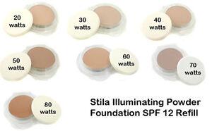 c76425b3bf4c Details about STILA illuminating powder foundation refill SPF12 - 10g  BOXED..