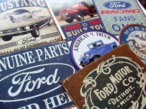 HUGE 16 SIGN BULK LOT Retro Ford Motor Co.Truck Mustang Tin Signs Gift Set USA
