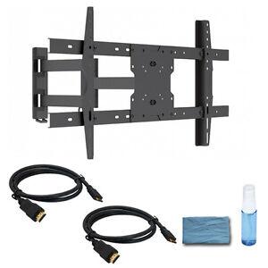 full motion led samsung vizio tv wall mount bracket 37 40 42 50 55 60 65 70 inch. Black Bedroom Furniture Sets. Home Design Ideas