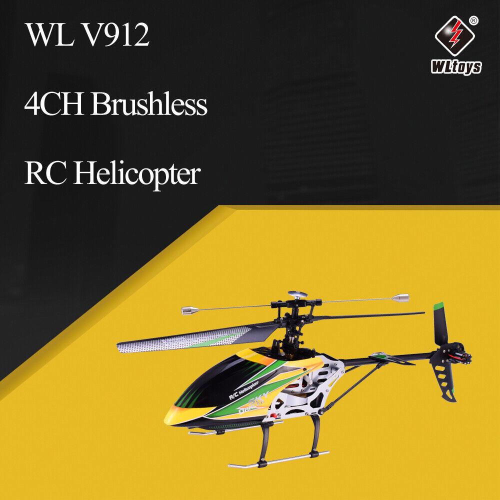 WLtoys V912 4CH sin escobillas RC Helicóptero + GYRO BNF Radio Control avión aviones drones