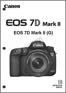 Canon EOS 7D Mark II Digital Camera User Instruction Guide Manual