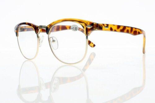 4.0 Neu 1.0 ~ Unisex Übergroße Retro Horned Rim Reading Gläser Vintage Style