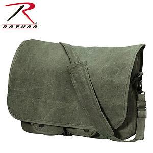 Rothco 9138 / 9558 / 9728 / 9128 Vintage Canvas Paratrooper Bag Prix ModéRé