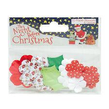 Helz Cuppleditch la noche antes de Navidad Flores de papel para tarjetas y manualidades