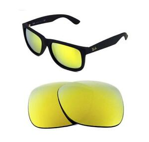 01150c88557 NEW POLARIZED REPLACEMENT 24K GOLD LENS FIT RAY BAN 4265 62mm ...