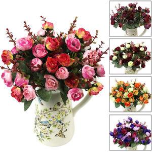 Am-21-Head-Artificial-Silk-Fake-Rose-Flowers-Wedding-Party-Home-Bouquet-Decor-l