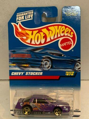 1998 HOT WHEELS COLLECTOR #870 CHEVY STOCKER PURPLE 1:64 3+