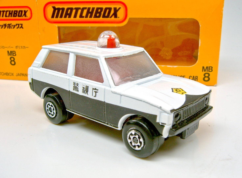 Matchbox sf j-8 range rover polizeiauto wei ß & schwarz  polizei  japanbox