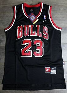 2c44ffaac Image is loading Michael-Jordan-BLACK-23-Chicago-Bulls-Throwback-Swingman-