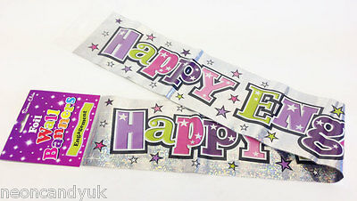 Happy Engagement Banner Engagement Party Decoration 9ft Banner Holographic