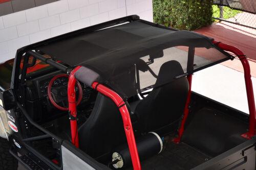 1997-2006 Jeep Wrangler SpiderWebShade TrailMesh Bikini Top Black