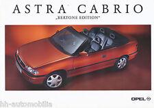 Opel Astra Cabrio Bertone Edition Prospekt 1/95 brochure 1995 Auto PKWs Deutsch