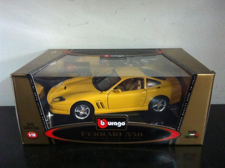 Bburago Burago 1 18 Ferrari 550 Maranello 1996 1996 1996 amarillo diecast Cod. 3354 MIB 005f1f