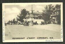 Caraquet street Cars New Brunswick Canada stamp 1958