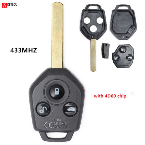 2011-2012 Forester Remote Car Key Fob 3 Button 433MHz 4D60 for Subaru Outback