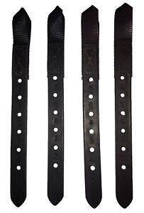 Genuine Thorowgood Saddle Leather Buckle Guards 1 Pair Black Or Brown DIY