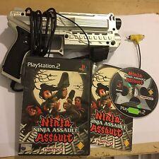 SONY PLAYSTATION 2 PS2 4GAMMERS XK10 LIGHT BLASTER GUN + NINJA ASSAULT GAME