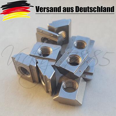 10x Nutensteine Nut 6 Profile mit Steg, Schrauben M5, NEU 3D Drucker L0004