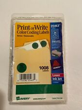 Avery 5463 Adhesive Removable Dot Labels 075 In Diameter Green 1 Pack Of 1008