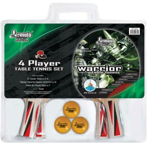 Formula Sports Warrior 4 Player Table Tennis Set