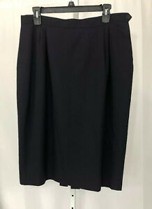 Austin Reed Women S Skirt Size 16 Navy Blue Lined Wool A Line Career Usa Ebay