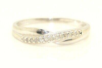 9ct Yellow Gold Wedding Ring Crossover Diamond 3mm Ring