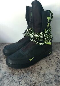 Nike SF AF1 SPECIALE campo AIR FORCE ONE HIGH NERO Taglia