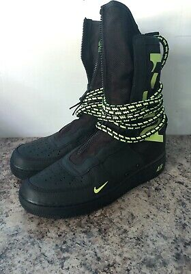 Nike SF AF1 SPECIALE campo AIR FORCE ONE HIGH NERO Taglia 10.5 Volt | eBay
