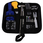 Watch Repair Tool Kit Zip Case Opener Link Remover Screwdrivers Spring Bar Tool