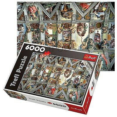 Trefl 6000 Piece Adult Large Sistine Chapel Wall Ceiling Floor Jigsaw Puzzle NEW