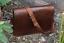 """17/"""" Large New Real Vintage Leather Men/'s Messenger Satchel Laptop Briefcase Bag"""