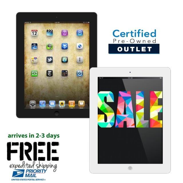 iPad 2, 3 or 4 | 16GB,32GB,64GB or 128GB | Black| White 9.7 WiFi Hot Offer!