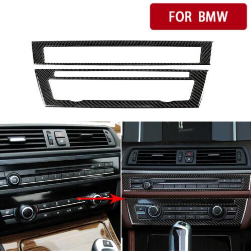 2 Stück Carbon Interieur Zentral CD Cover Zierleiste Für BMW 5er F10 2011-2017