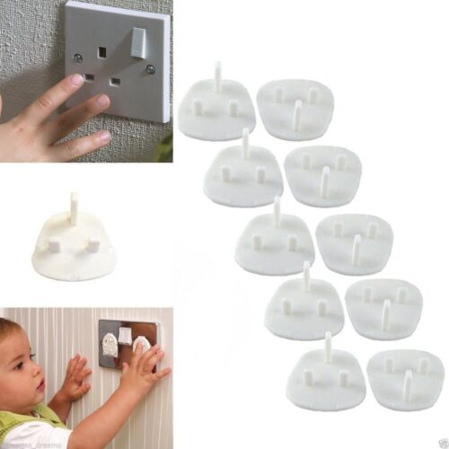 20 Baby Child Safety UK Plug Socket Covers Protector Guard Mains Electric Insert