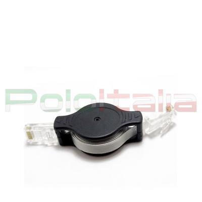 Responsabile Cavo Di Rete Ethernet Lan Retrattile Piatto Cat.5e Rj45 | Retraibile Avvolgibile