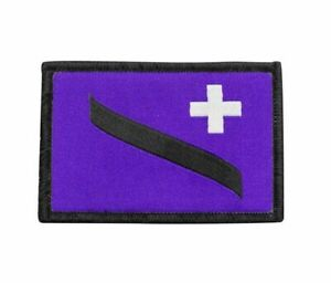 "Tactical Patch Distintivo Nome Ricamato 5/""X 1/"" Gancio e linea chiusa © Paintball Airsoft"