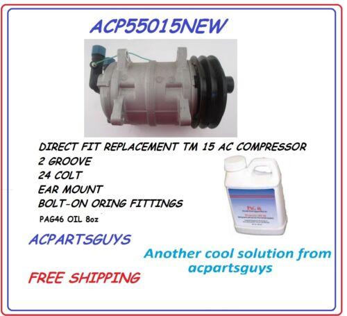 Replacement for Seltec TM15 24 VOLT  A//C Compressor NEW SAE-J639