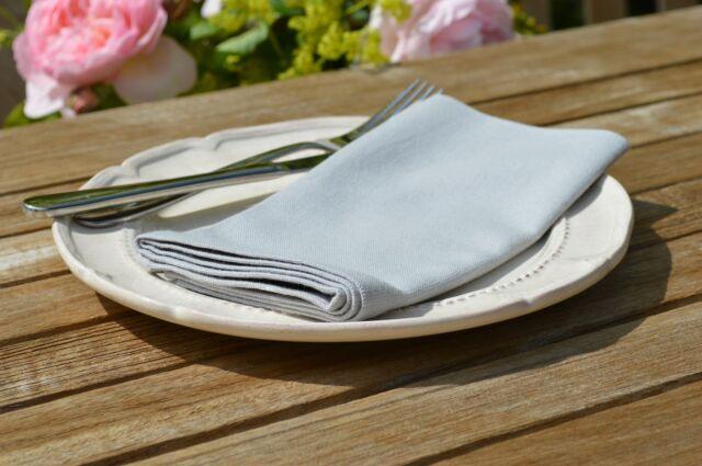 "NAPKINS, 100% Cotton Dove Grey Pack Of 4, 41x41cm 16x16"" Quayside Home"